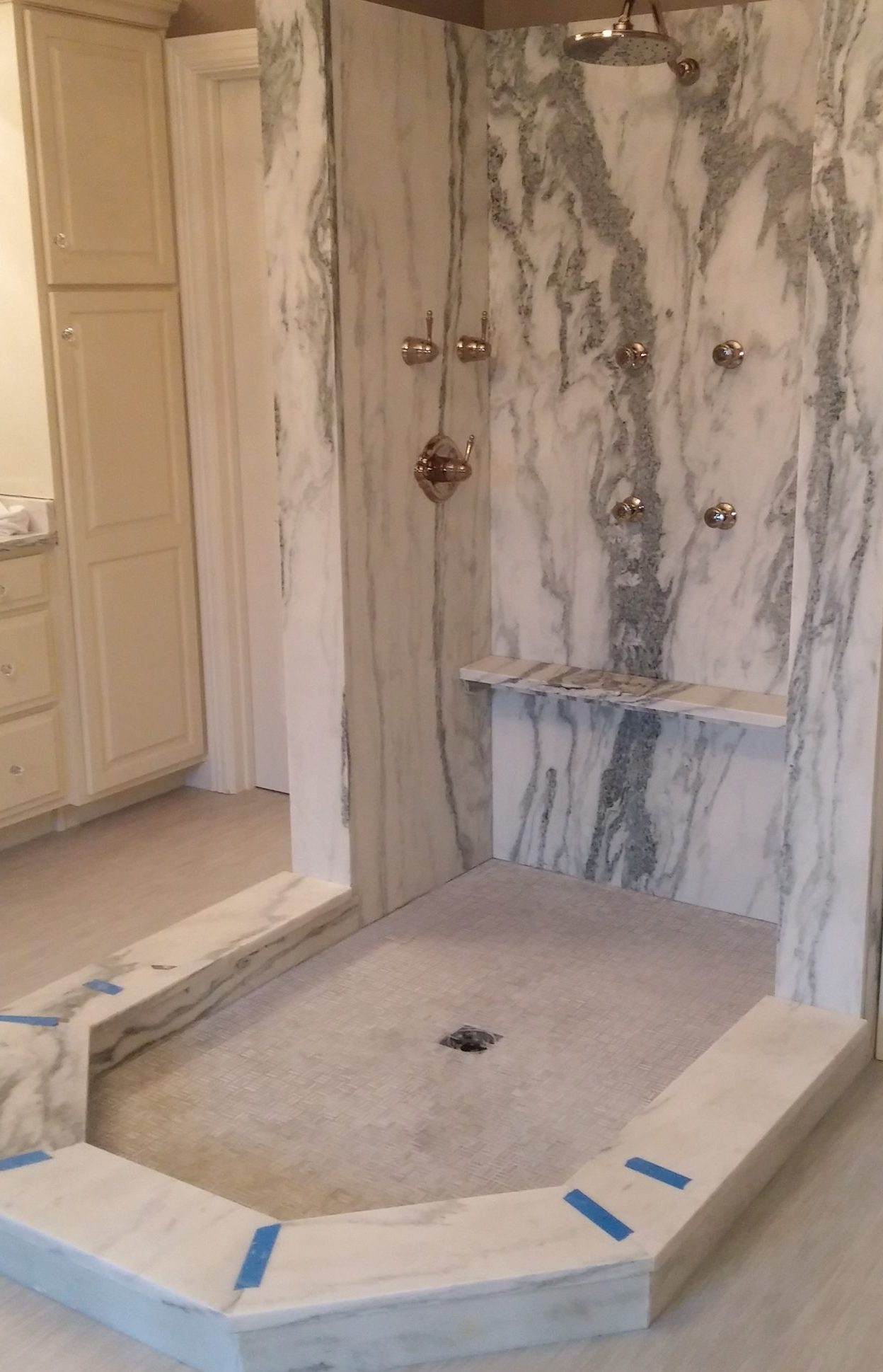 Danby Marble Shower, Granite Concepts KY