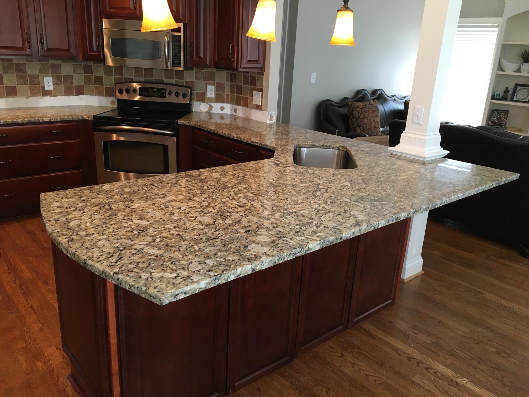 Giallo Napoleon Kitchen, Granite Concept, KY